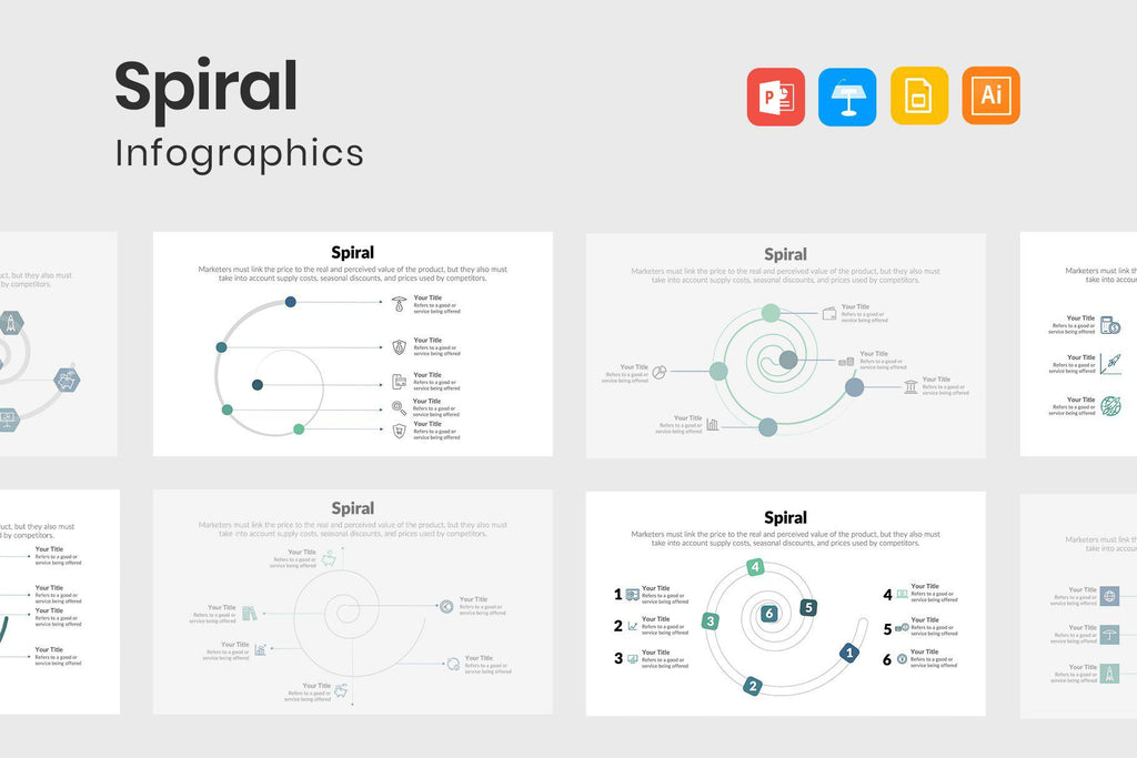 Spiral Diagrams Template
