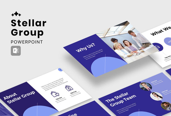 Stellar Group Real Estate PowerPoint Template