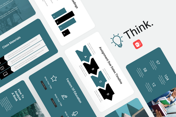 Think Education PowerPoint Template