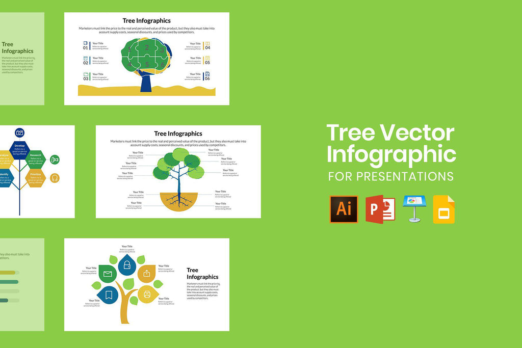 Tree Vector Infographics for Presentations