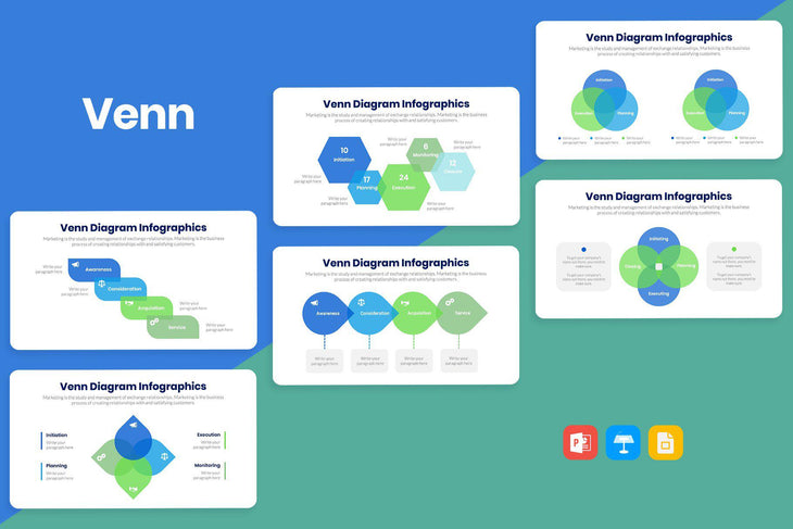 Venn Infographics-PowerPoint Template, Keynote Template, Google Slides Template PPT Infographics -Slidequest