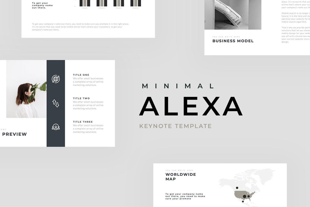 Alexa Minimal Keynote Template - TheSlideQuest