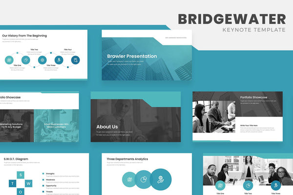 Bridgewater Business Keynote Template - TheSlideQuest