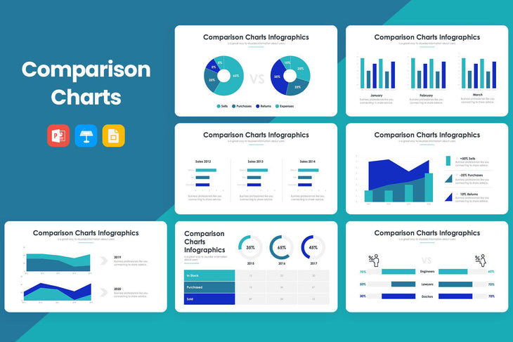 Comparison Charts 2 PowerPoint Template