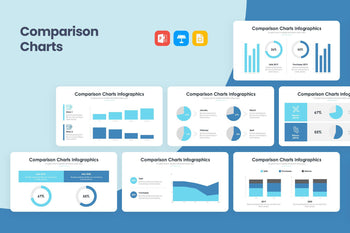 Comparison Charts 3 PowerPoint Template