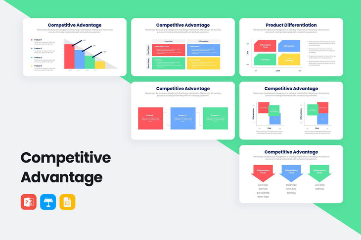 Competitive Advantage Infographics-PowerPoint Template, Keynote Template, Google Slides Template PPT Infographics -Slidequest