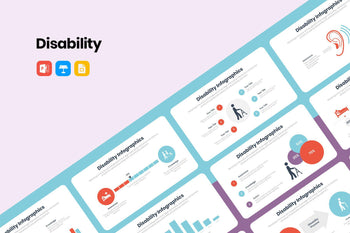 Disability Infographics Template-PowerPoint Template, Keynote Template, Google Slides Template PPT Infographics -Slidequest