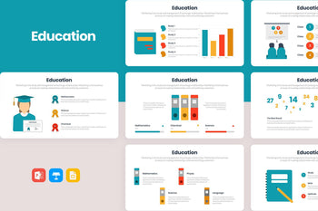 Education Diagrams Template-PowerPoint Template, Keynote Template, Google Slides Template PPT Infographics -Slidequest