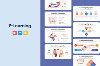 eLearning Infographics Template-PowerPoint Template, Keynote Template, Google Slides Template PPT Infographics -Slidequest
