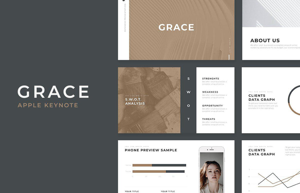 Grace Minimal Keynote Template - TheSlideQuest