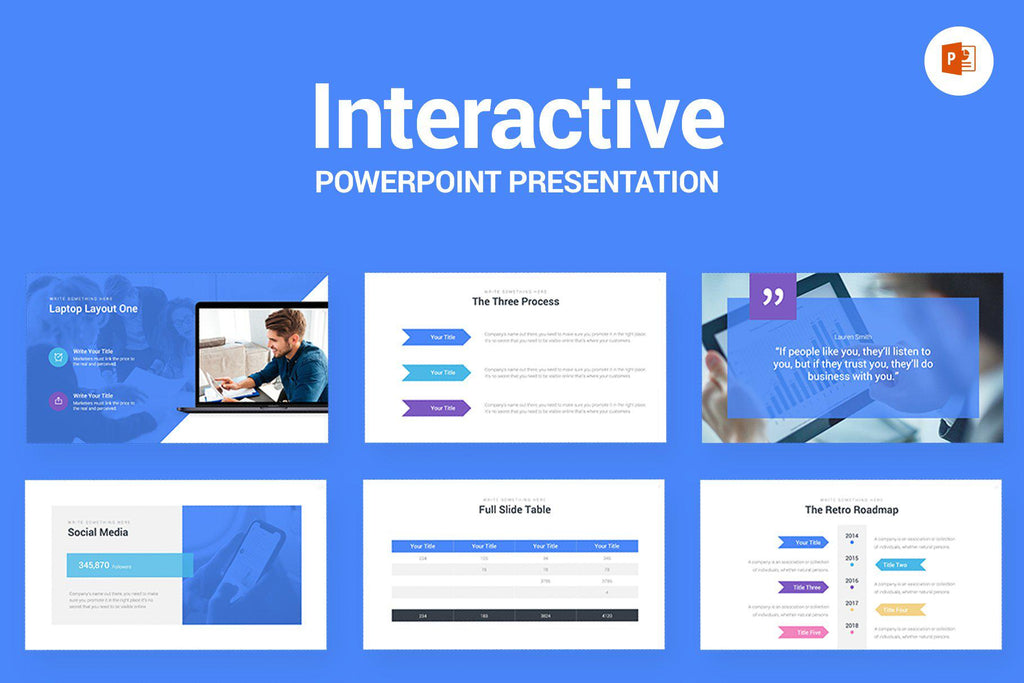 Interactive Webinar PowerPoint Template