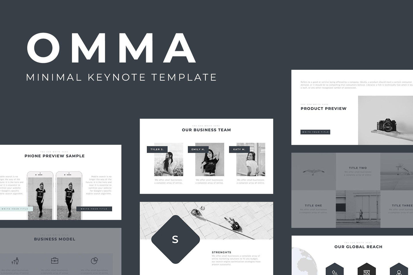 Omma Minimal Keynote Template - TheSlideQuest