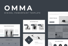 Load image into Gallery viewer, Omma Minimal PowerPoint Template - TheSlideQuest