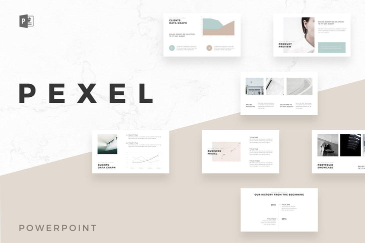 Pexel Minimal PowerPoint Template - TheSlideQuest