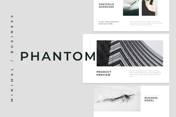 Phantom Minimal PowerPoint Template - TheSlideQuest