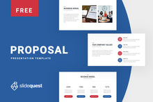 Load image into Gallery viewer, Proposal Free Business Presentation Template - TheSlideQuest