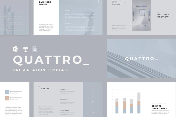 QUARTZ Minimal PowerPoint + Keynote + Google Slides Bundle - TheSlideQuest