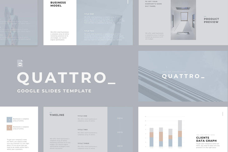 Quattro Minimal Google Slides - TheSlideQuest