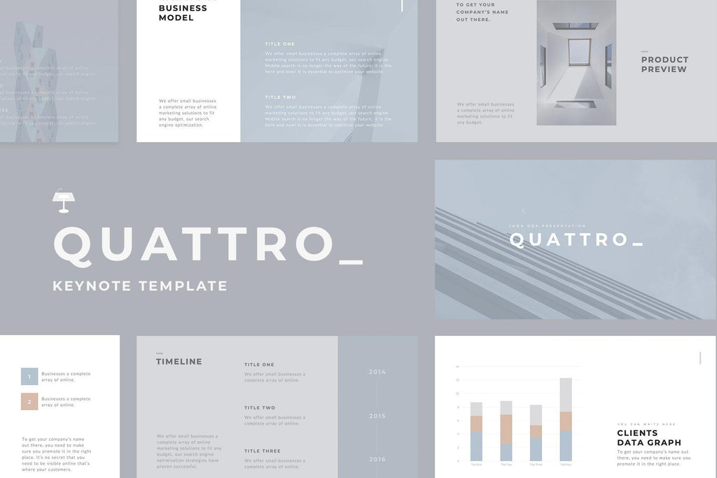 Quattro Minimal Keynote Template - TheSlideQuest