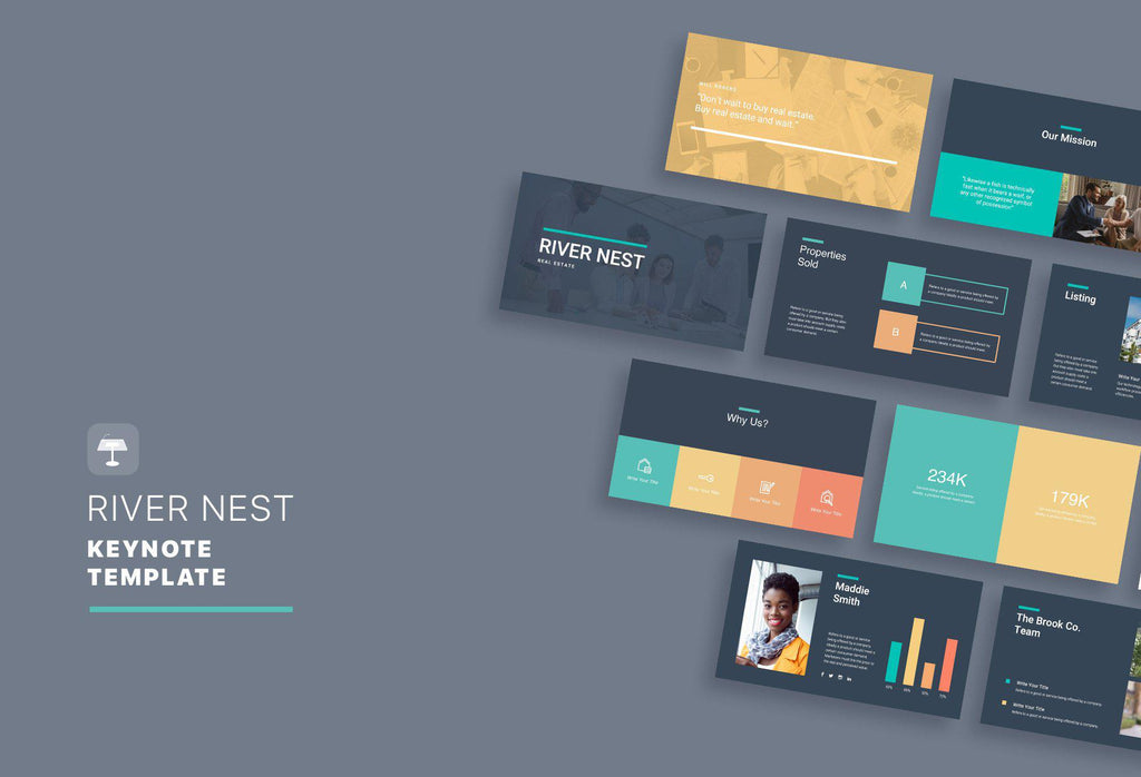 River Nest Real Estate Keynote Template