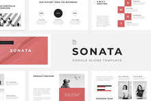 Load image into Gallery viewer, Sonata Minimal Google Slides - TheSlideQuest