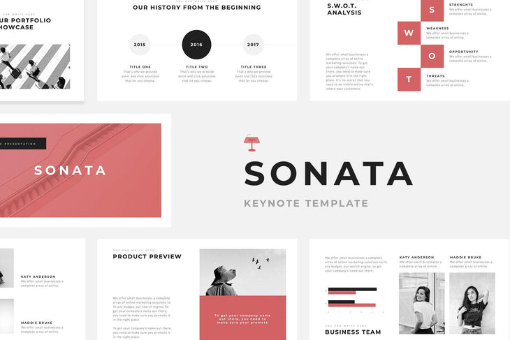 Sonata Minimal Keynote Template - TheSlideQuest