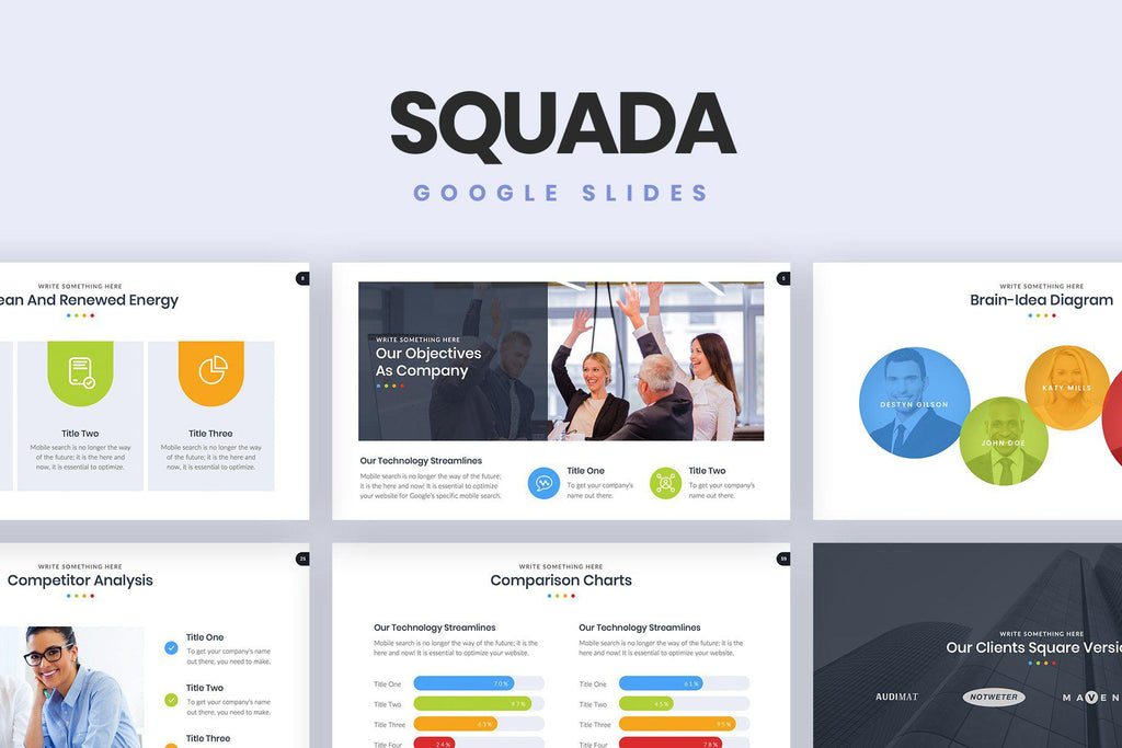Squada Google Slides - TheSlideQuest