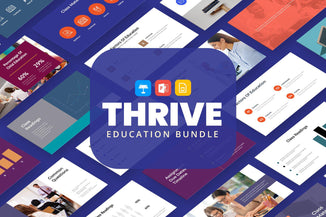 Thrive Education Presentation Templates Bundle-PowerPoint Template, Keynote Template, Google Slides Template PPT Infographics -Slidequest