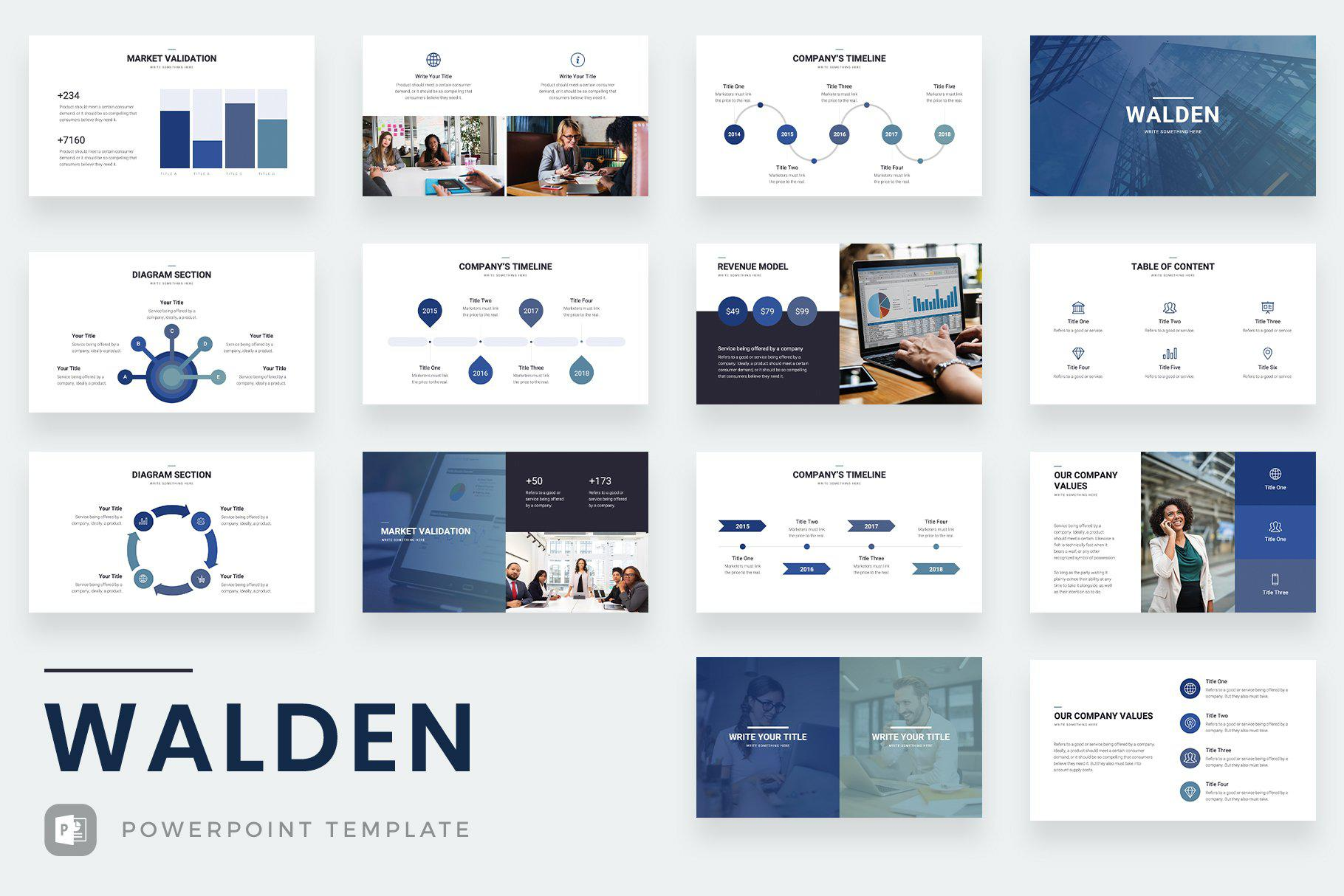 Walden PowerPoint Template - TheSlideQuest