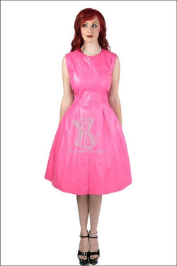 Sleeveless Jewel Neck Business Dress Overbust