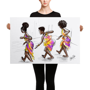 Dance Off_Stretched Canvas