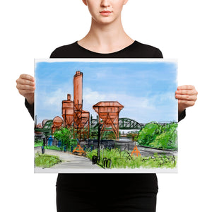 Concrete Plant Canvas