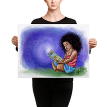 Load image into Gallery viewer, Girl reading canvas print