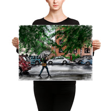 Load image into Gallery viewer, Lady with umbrella Canvas