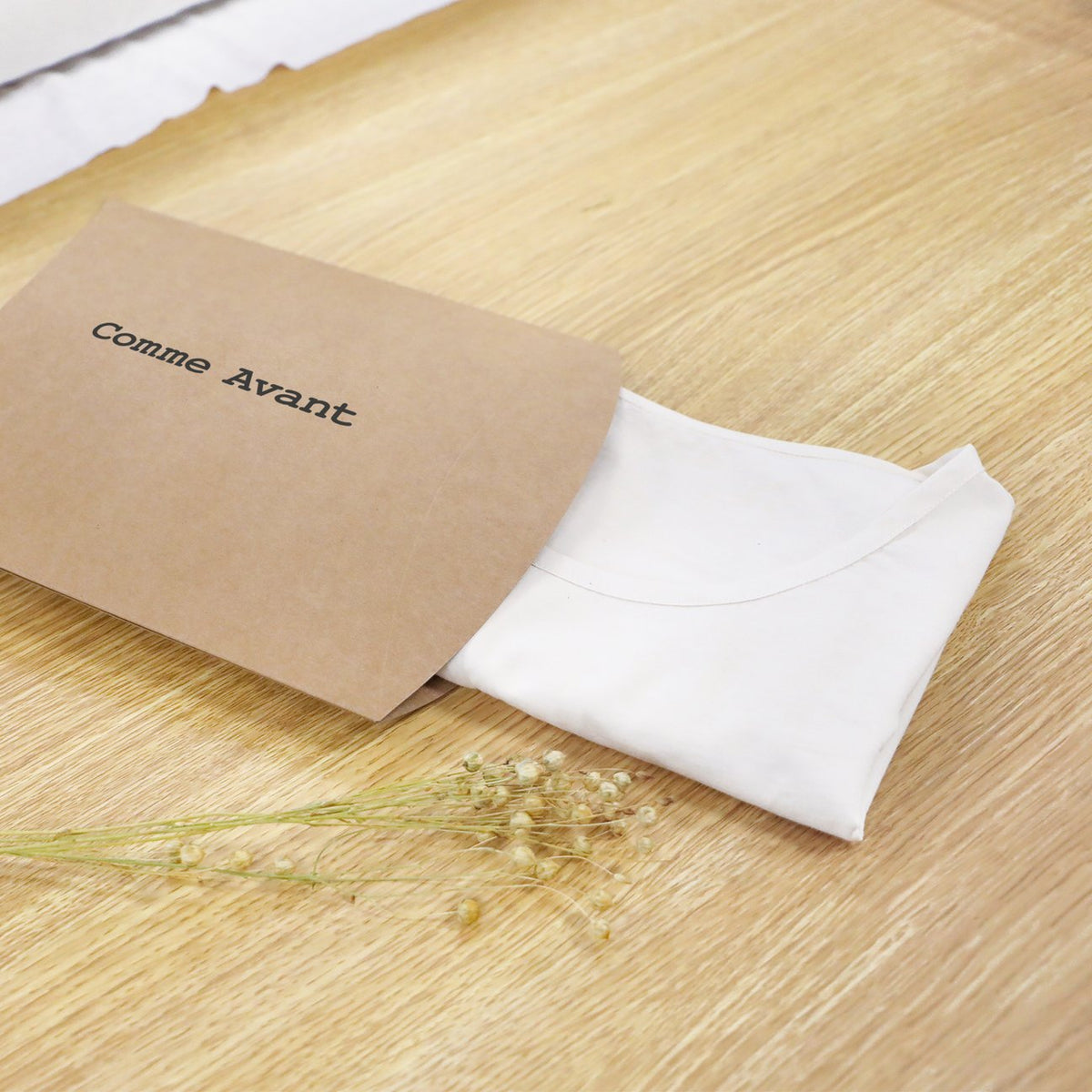 A natural and simple packaging