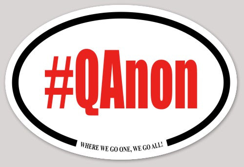 #QAnon Oval Bumper Sticker