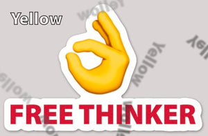 """Free Thinker"" Laptop Sticker"
