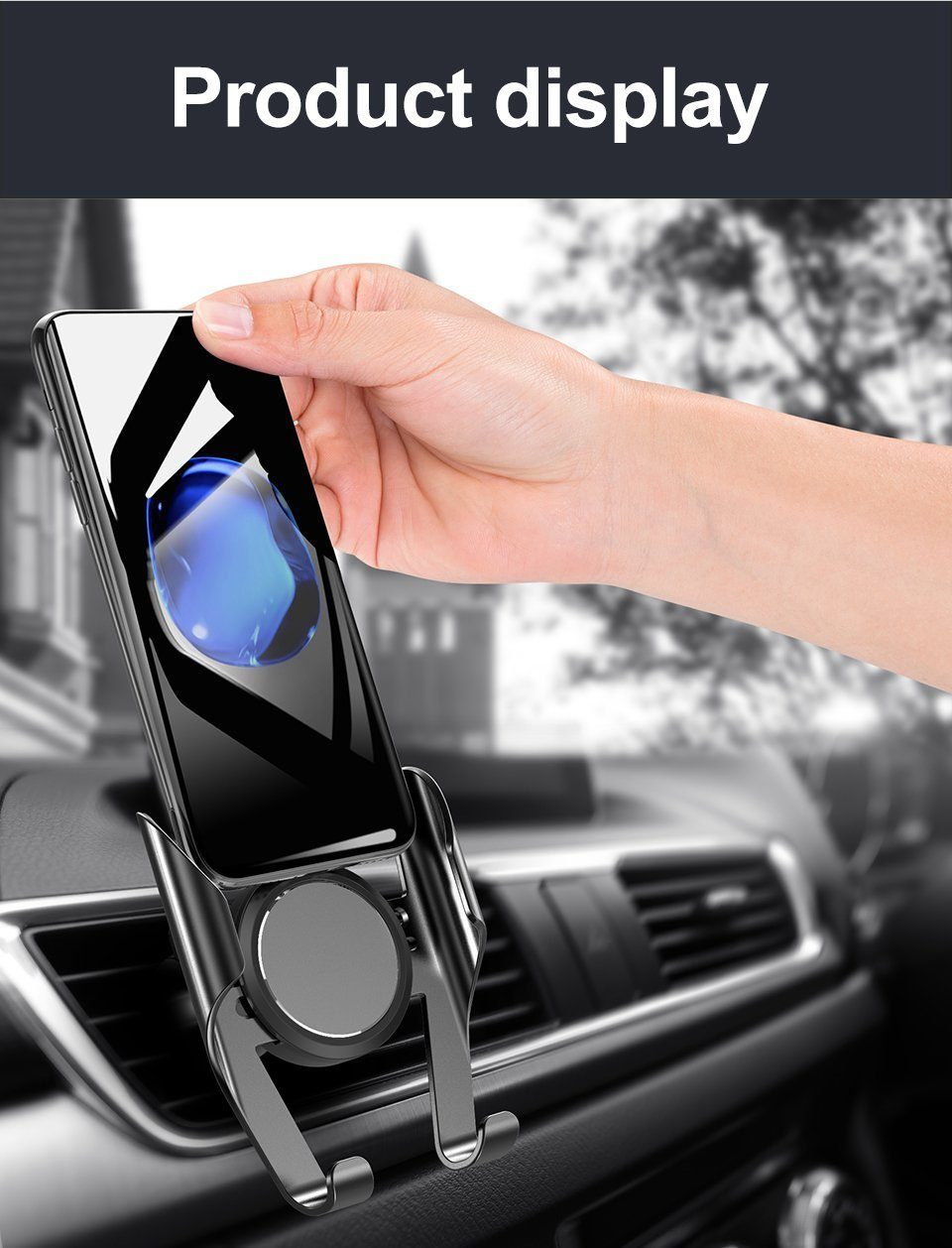 360 Rotation Car Phone Holder Evofine