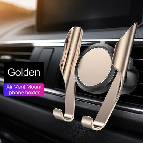 360 Rotation Car Phone Holder Evofine Gold