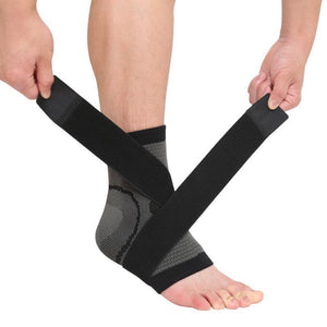 "3D Ankle/Foot Compression Pad Evofine Black M (7.5""-8.3"")"