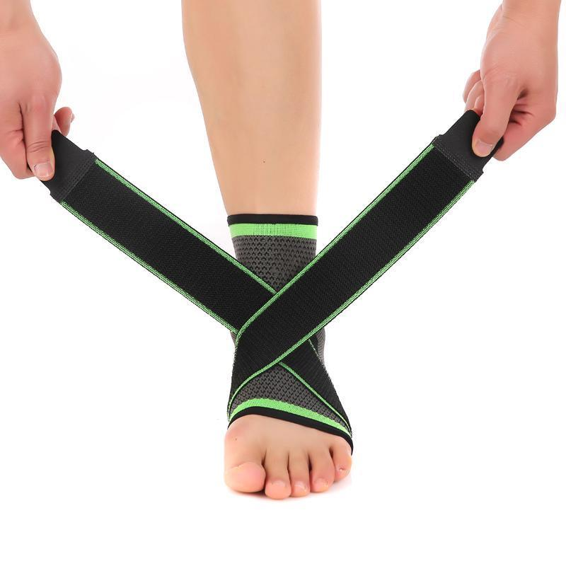"3D Ankle/Foot Compression Pad Evofine Green M (7.5""-8.3"")"