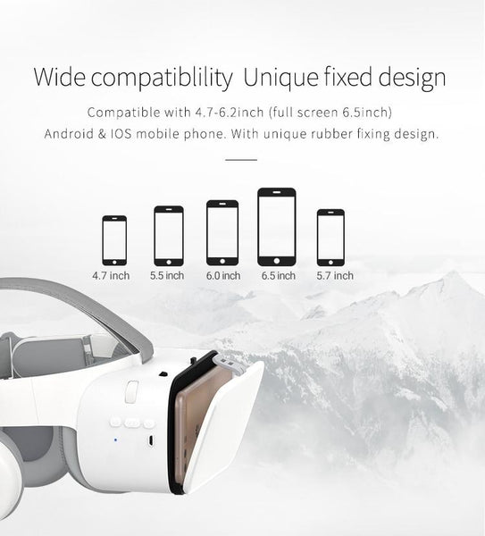 3D VR Glasses Virtual Reality Headset For iPhone Android Smartphone