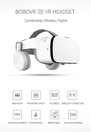 3D VR Glasses Virtual Reality Headset For iPhone Android Smartphone Cell Phone Accessories EvoFine