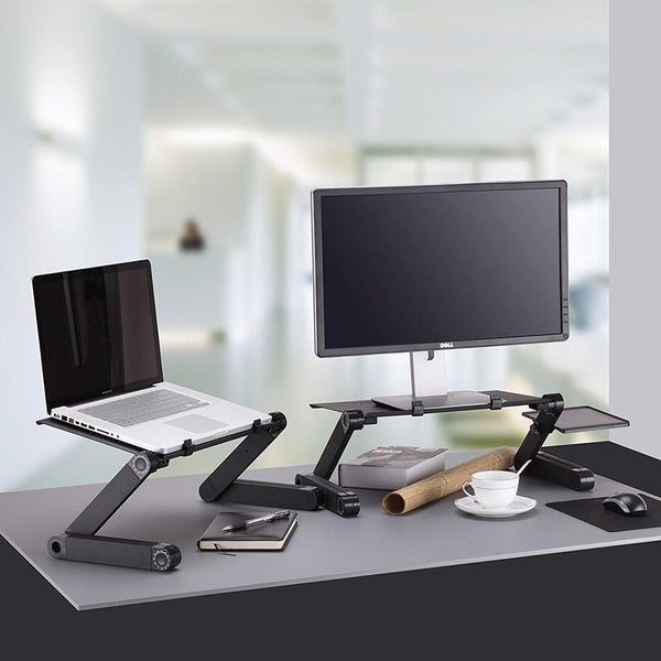 Adjustable Ergonomic Portable Aluminum Laptop Desk - Table Desk Stand With Mouse Pad