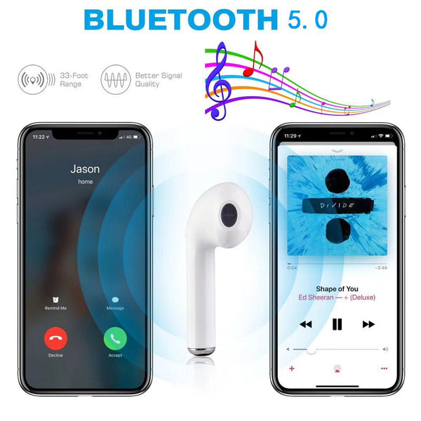 Auto Pairing Fast Charging Bluetooth Earbuds 3D Super Bass Earphone Headset 5.0 V