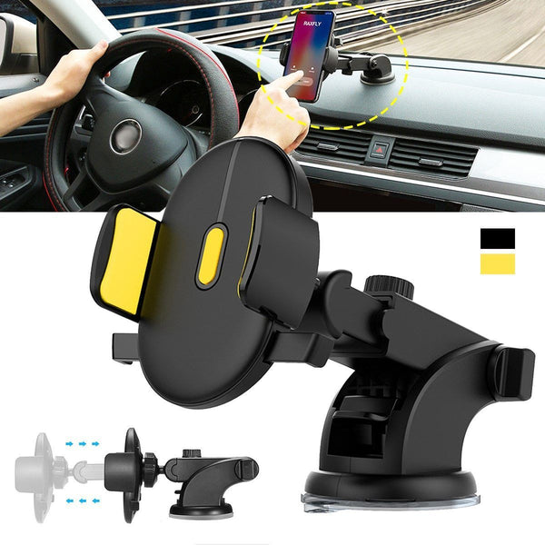 Automatically Locking Windshield Phone Holder - Universal FIt