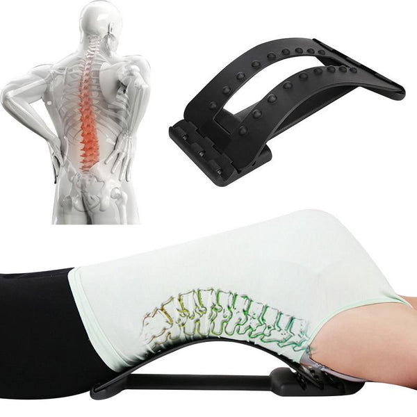Back Pain Relief - Acupressure Back Stretcher and Massage Ball Set