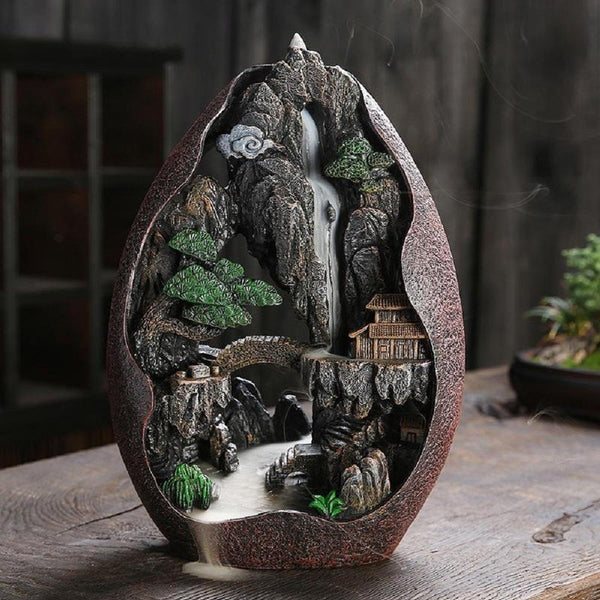 Backflow Incense Burner Lofty Mountains And Flowing Water Backflow