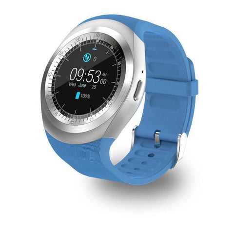 Bluetooth Android SmartWatch GSM Sim Remote Camera Evofine blue Standard