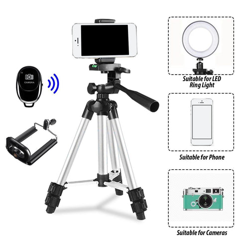 Camera Tripod with Carry Bag, Lightweight Travel Aluminum Professional Tripod Stand Tripod EvoFine